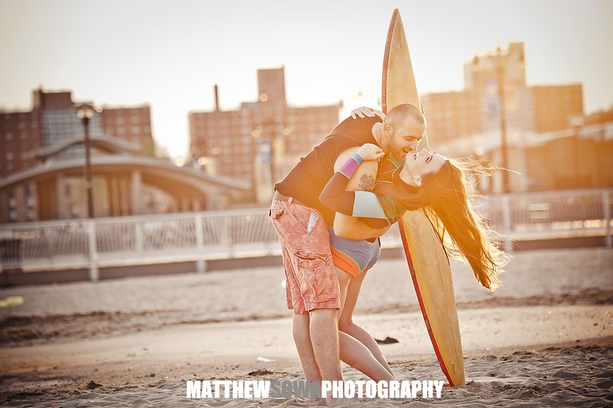 19c NYC CITY Coney Island engagement photography session