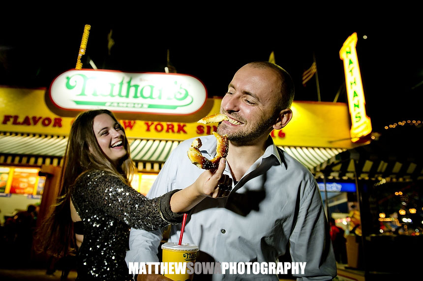 30 NYC CITY Coney Island engagement photography session