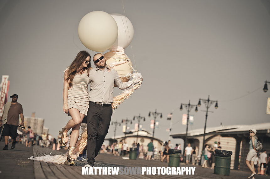 4 NYC CITY Coney Island engagement photography session