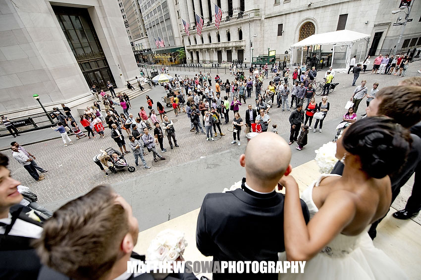 22.NYC broad street wedding images