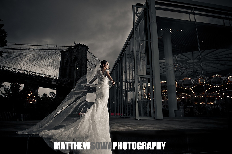 19.Dumbo Brooklyn bridge carousel wedding photography